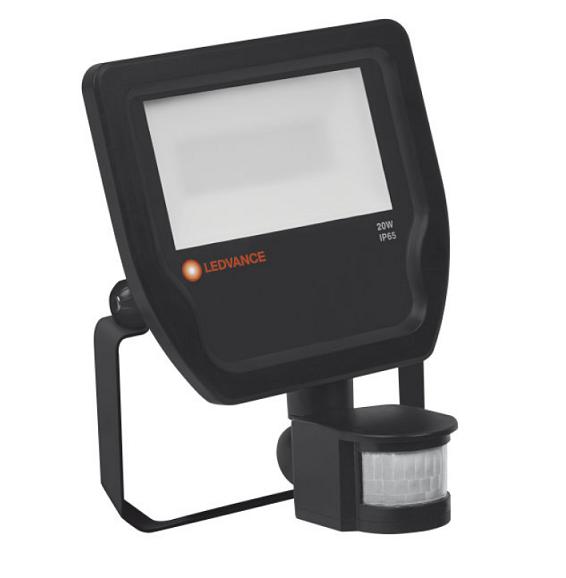 Светодиодный прожектор Floodlight LED 50W 5500 Lm 4000K IP65 Black OSRAM с датчиком