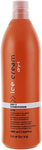 Кондиционер для сухих, окрашенных и вьющихся волос Inebrya Ice Cream Dry-T Conditioner  1000 мл.