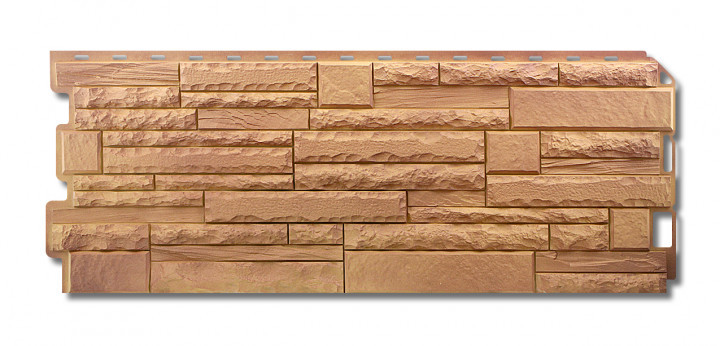 Скалистый камень Памир. Фасадные панели. Цокольный сайдинг.
