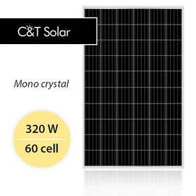 Монокристаллическая солнечная панель C&T SOLAR 320 Вт СT60320-M