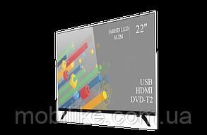 """Функціональний телевізор Ergo 22"""" Full HD/DVB-T2/USB (1080р)"""