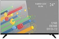 """Функциональный телевизор Ergo 24"""" Full HD/DVB-T2/USB (1920×1080)"""