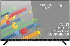 """Функціональний телевізор Ergo 50"""" Smart-TV/DVB-T2/USB адаптивний UHD,4K/Android 9.0"""