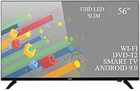 """Функциональный телевизор Ergo 56"""" Smart-TV//DVB-T2/USB адаптивный UHD,4K/Android 9.0"""