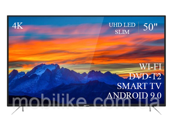 """Функціональний телевізор Thomson 50"""" Smart-TV/DVB-T2/USB АДАПТИВНИЙ UHD,4K/Android 9.0"""
