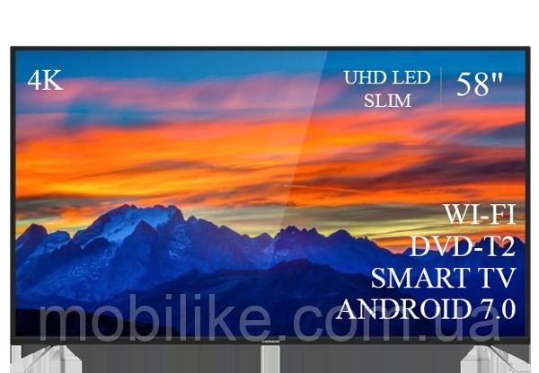"""Функциональный телевизор Thomson  58"""" Smart-TV/DVB-T2/USB (1920×1080) Android 7.0 4К/UHD"""
