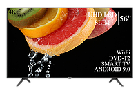 """Функциональный телевизор Hisense 56"""" Smart-TV//DVB-T2/USB АДАПТИВНЫЙ UHD,4K/Android 9.0"""