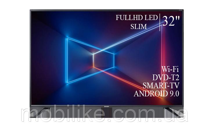 "Функциональный телевизор Sharp  32"" Smart-TV/Full HD/DVB-T2/USB  Android 9.0"