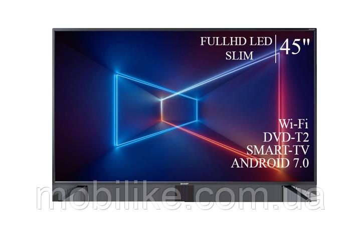 "Функциональный телевизор Sharp  45"" Smart-TV/Full HD/DVB-T2/USB Android 7.0"