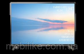 """Функціональний телевізор TCL 34"""" Smart-TV/Full HD/DVB-T2/USB Android 9.0"""