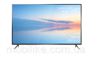 """Функціональний телевізор TCL 42"""" FullHD/DVB-T2/USB"""