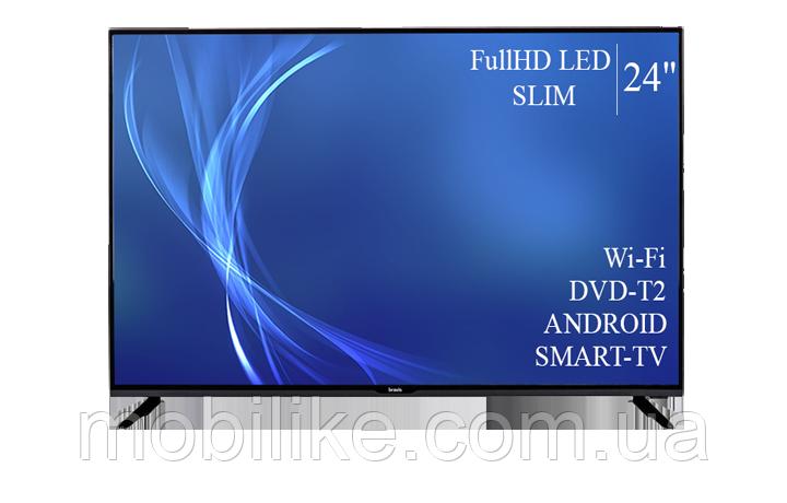 """Функціональний телевізор Bravis 24"""" Smart-TV/Full HD/DVB-T2/USB"""