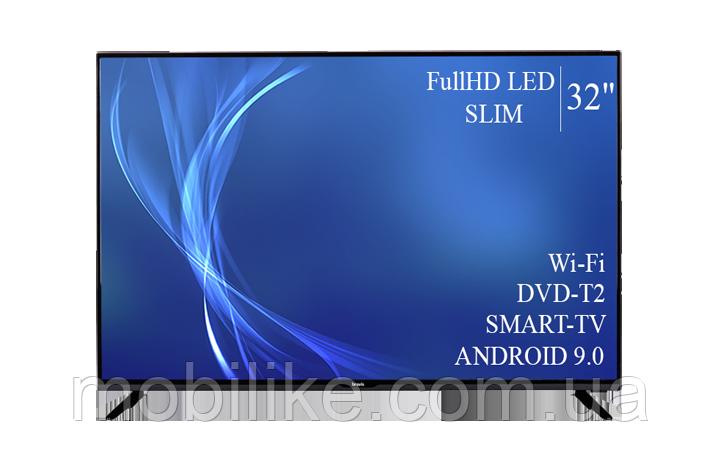 "Функциональный телевизор Bravis  32"" Smart-TV/Full HD/DVB-T2/USB  Android 9.0"
