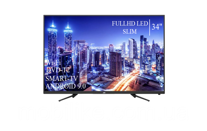 "Функциональный телевизор JVC  34"" Smart-TV/Full HD+DVB-T2+USB Android 9.0"