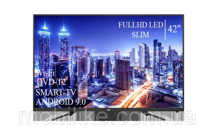"""Функціональний телевізор JVC 42"""" Smart-TV+Full HD DVB-T2+USB Android 9.0"""