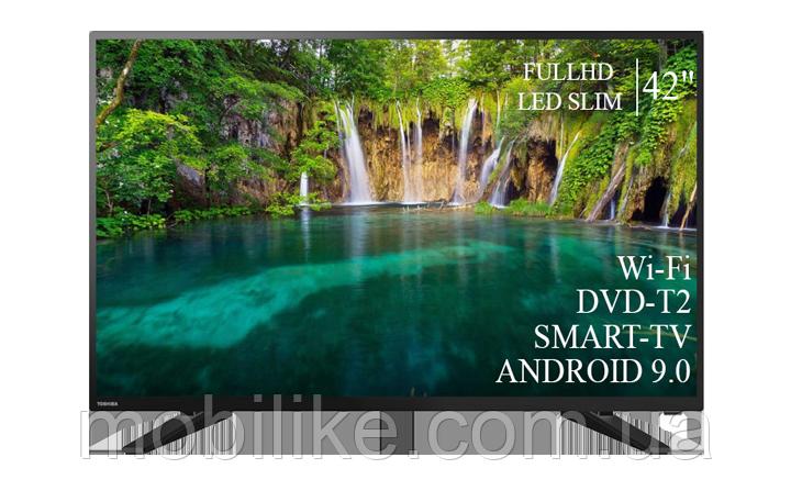 "Функциональный телевизор Toshiba  42"" Smart-TV+Full HD+DVB-T2+USB Android 9.0"
