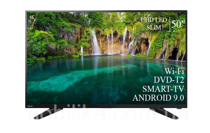 """Функциональный телевизор Toshiba  50"""" Smart-TV/+DVB-T2+USB АДАПТИВНЫЙ UHD,4K/Android 9.0"""