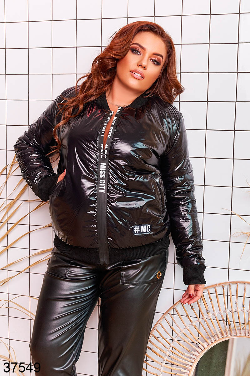 Демисезонная куртка-бомер из плащевки Monkler с 48 по 58 размер