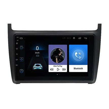 "Штатная автомобильная 9"" магнитола Lesko Volkswagen Polo (2013-2017 г.) сенсор 1/16 Гб GPS Android Can модуль, фото 2"