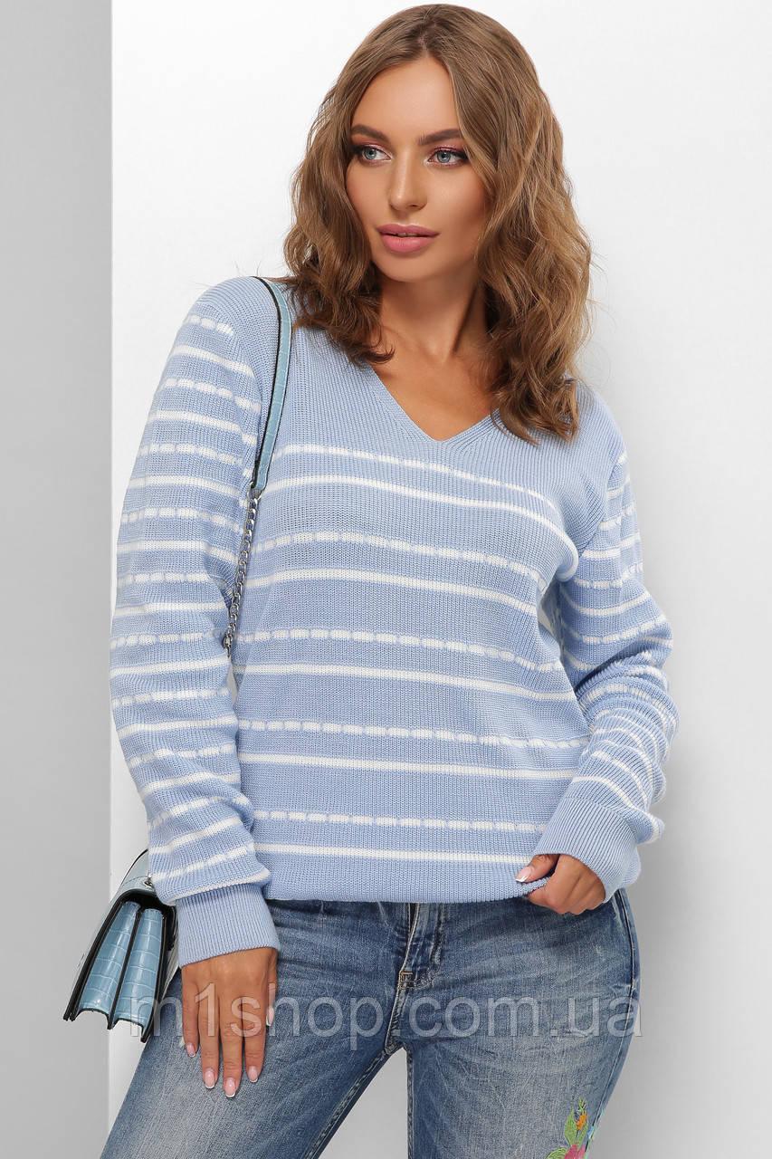 Женский двухцветный джемпер свитер (176 mrs)