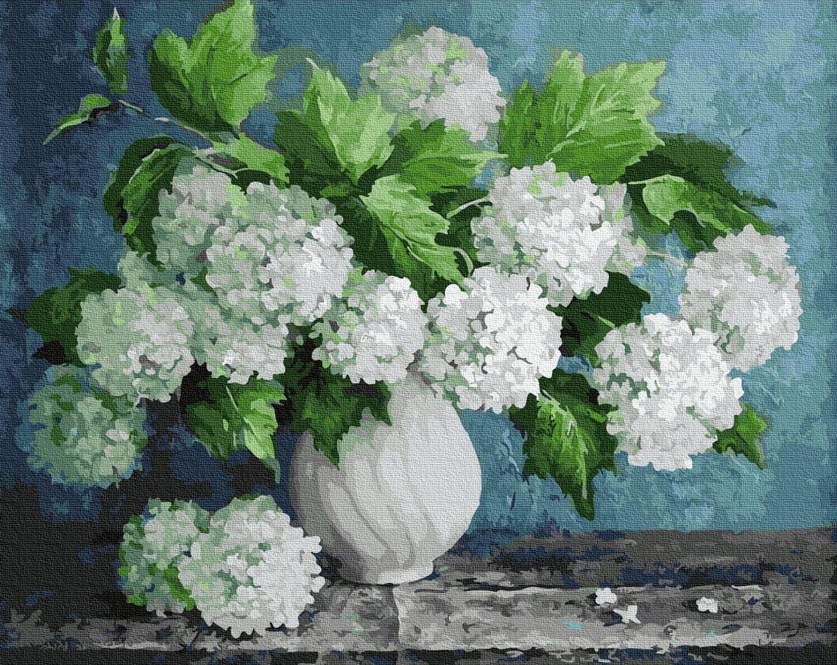 Картина по номерам BRUSHME Букет белых гортензий 40x50 см., Украина