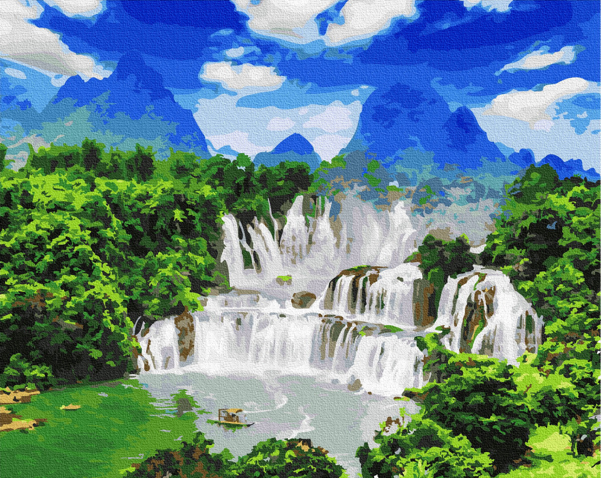 Картина по номерам BRUSHME Водоспад Детьян 40x50 см., Украина