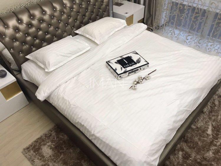 Комплект постельного белья Белый 100% Хлопок №0200