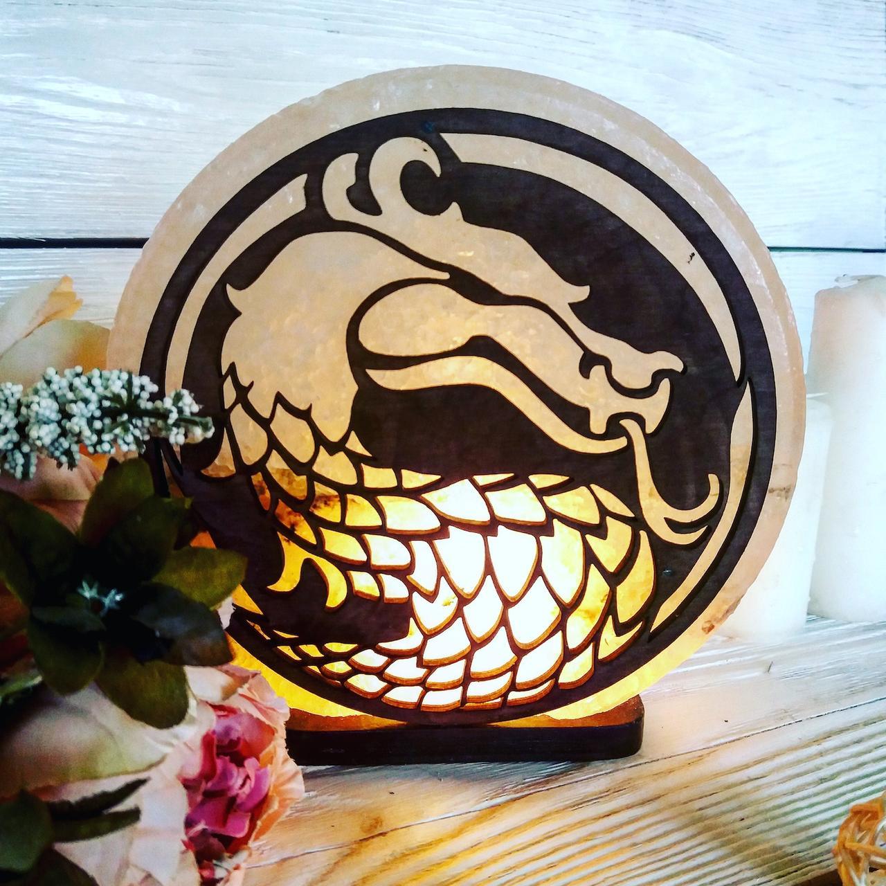 Соляна лампа SaltLamp Дракон 3-4 кг