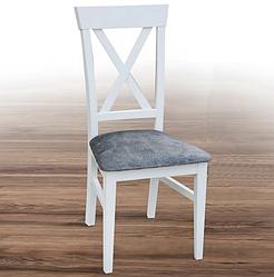 Дерев'яний стілець в стилі прованс -Каскад (білий, горіх)