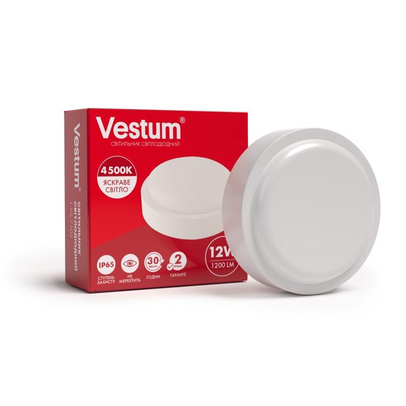 Светильник ЖКХ LED 15W круглый Vestum IP65