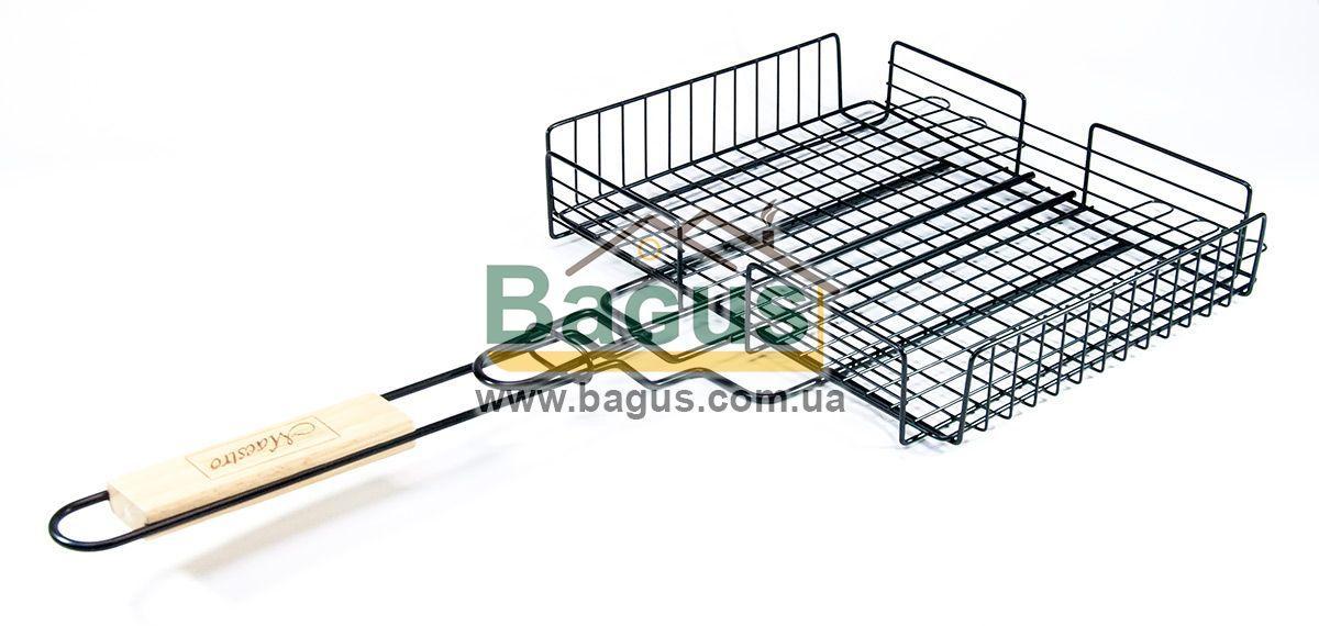 Решітка для гриля і барбекю з антипригарним покриттям 30х25х6см (глибока) Maestro MR-1002