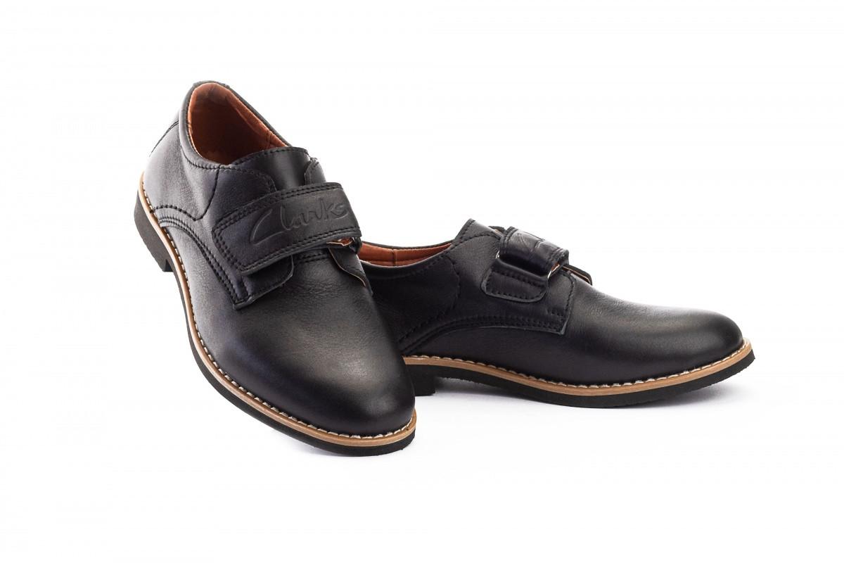 Подростковые туфли кожаные весна/осень черные Yuves М5L