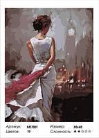 "Набор для рисования Картина по номерам ""Загадочная леди"" 30х40 (на подрамнике)MST001"