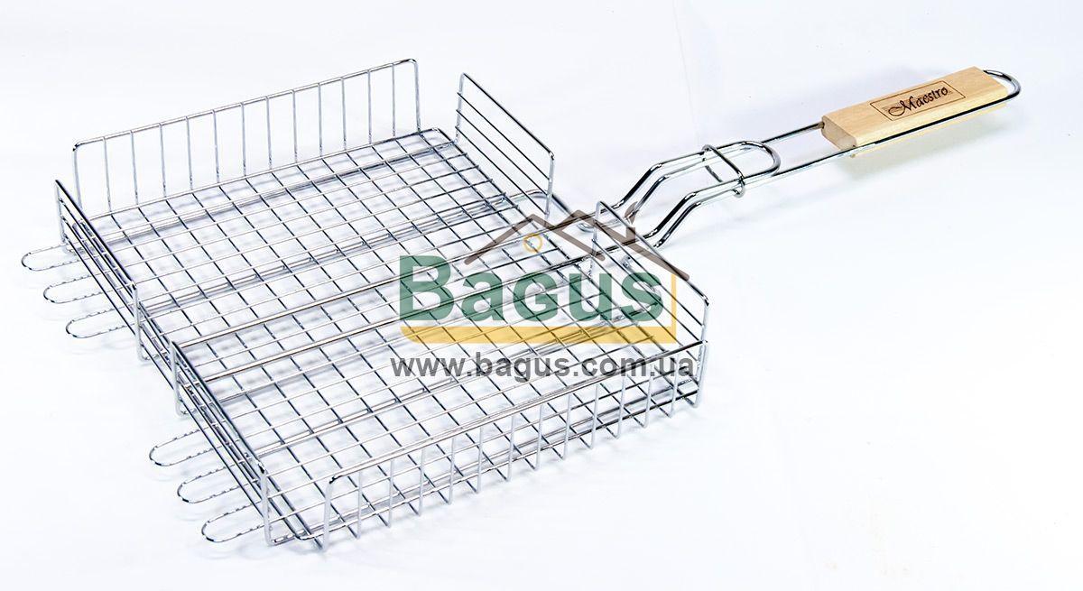 Решетка для гриля и барбекю 30х25х6см (глубокая) Maestro MR-1004