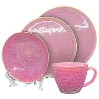 Набор посуды керамика розовая профессиональная посуда для кафе ресторанов и дома