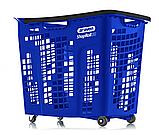 Корзина покупательская пластиковая 80 л на колесах с ручкой SHOP & ROLL 80 L COL, фото 6