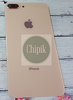 Стекло задней крышки для Apple iPhone 8 Plus с окошком камеры, золотое