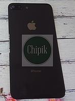 Стекло задней крышки для Apple iPhone 8 Plus с окошком камеры, черное