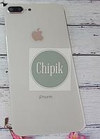 Стекло задней крышки для Apple iPhone 8 Plus с окошком камеры, белое