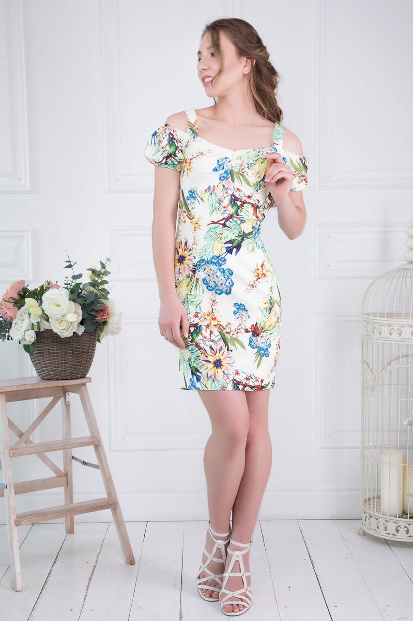 Сукня ТМ ALL POSA Лінда білий 46 (4775-2)