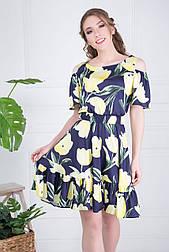 Платье ТМ ALL POSA Тюльпан желтый 48 (4776-2)