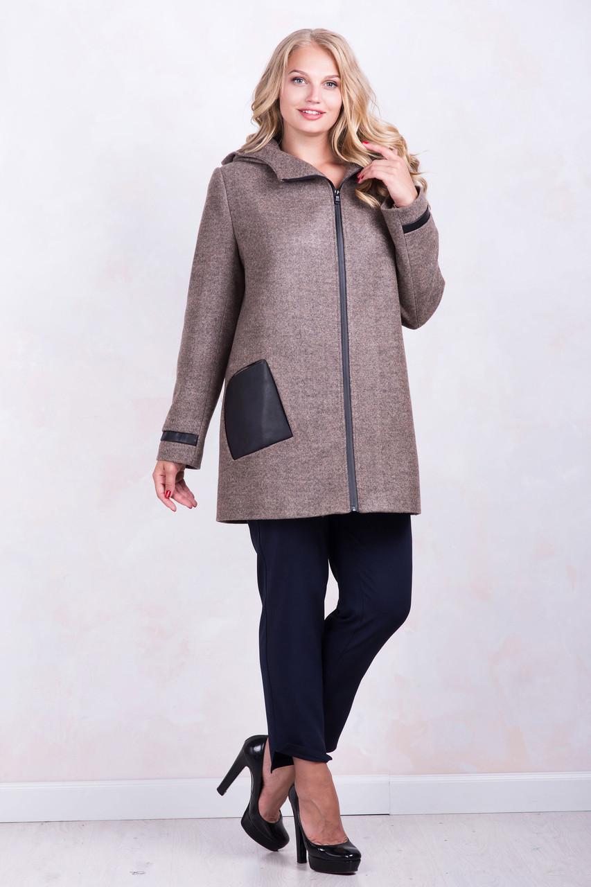 Пальто ТМ ALL POSA Кетті коричневий 48 (1197-3)