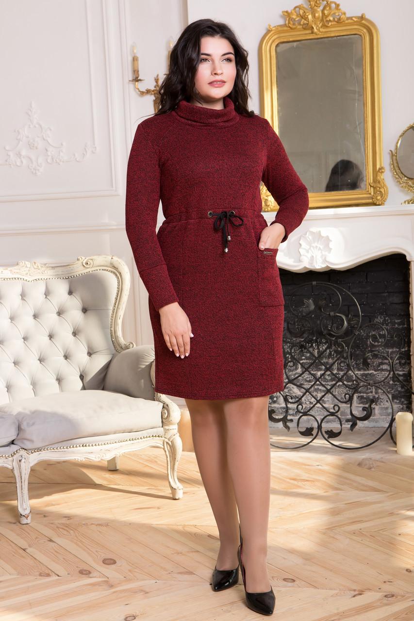 Сукня ТМ ALL POSA Єлизавета бордовий 50 (4839-1)