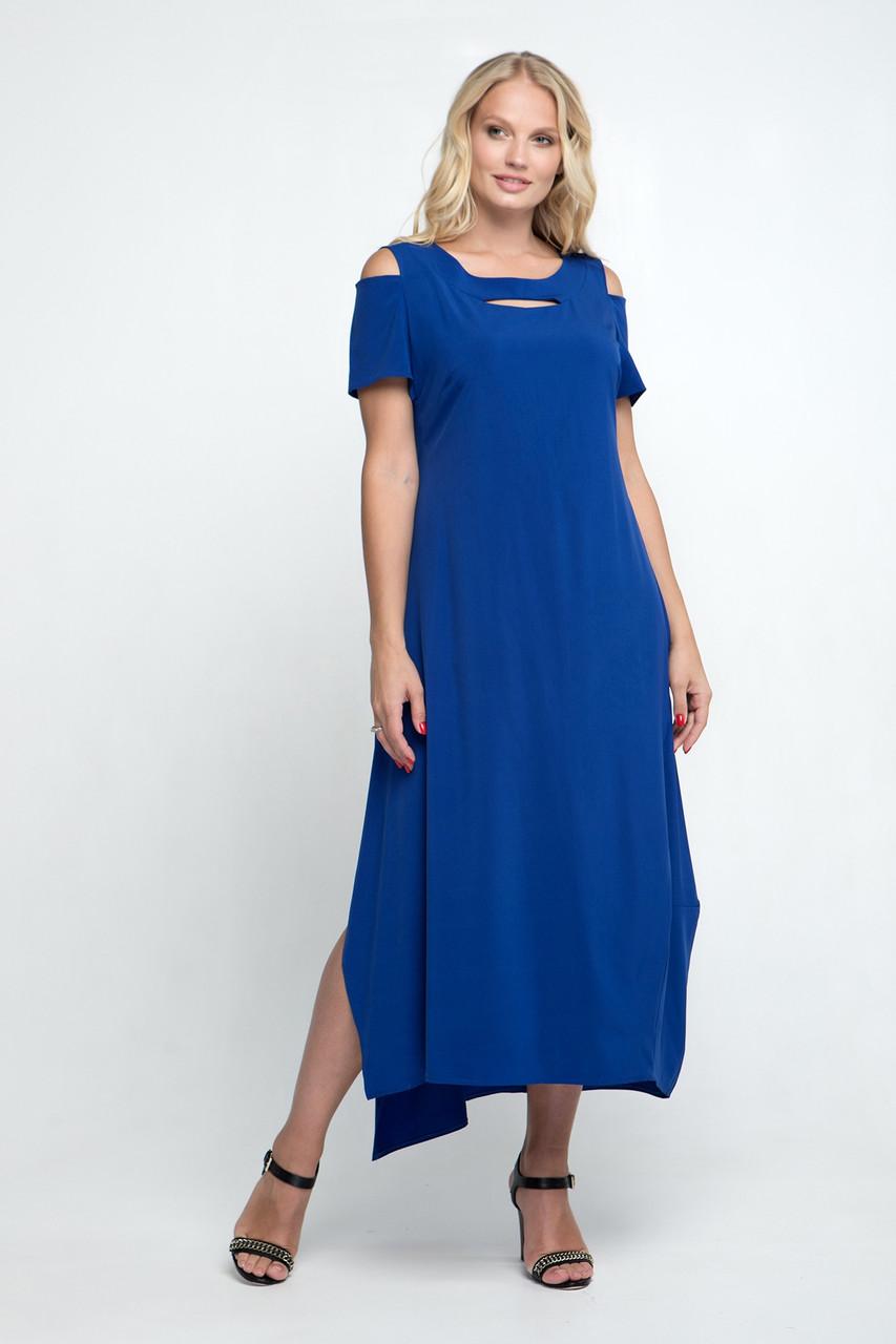 Платье ТМ ALL POSA Лия электрик 56 (4913-14)