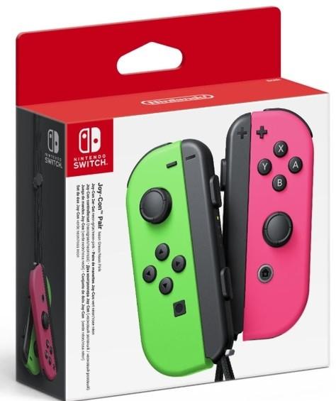 Ігрові контроллери Joy-Con Nintendo Switch Left Right Neon Green Pink