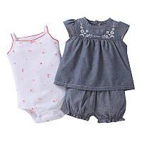 Комплект для дівчинки 3 в 1 Flower pattern Berni Kids (6 міс)