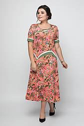 Платье ТМ ALL POSA Наоми коралл 60 (1354-3)