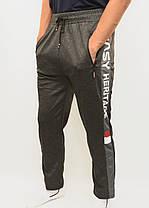 Штаны спортивные мужские трикотажные прямые книзу Брюки мужские Ao Longcom с молниями на карманах, фото 2