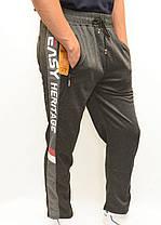 Штаны спортивные мужские трикотажные прямые книзу Брюки мужские Ao Longcom с молниями на карманах, фото 3