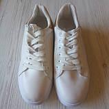 Белые кеды женские білі кеди жіночі, фото 6